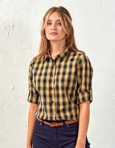 Ladies` Mulligan Check Cotton Long Sleeve Shirt
